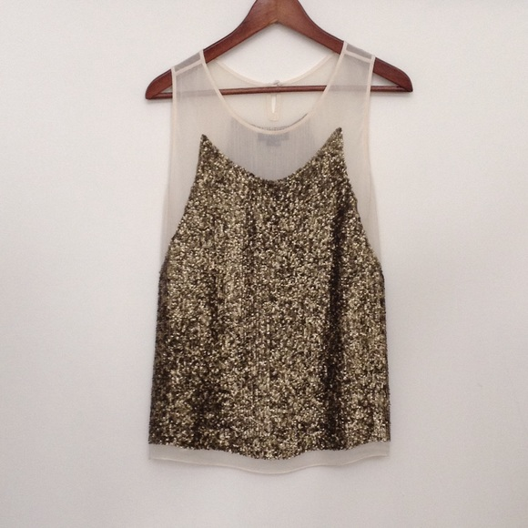 71be4a0d32cf5 Gryphon Tops - Gryphon New York Bronze Sequined Silk Top