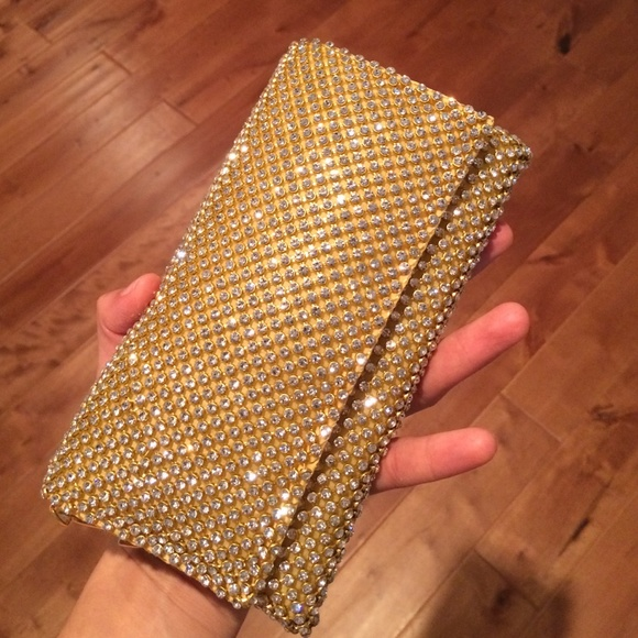 38% off Cache Handbags - Cache Gold Evening Clutch from Lily's ...