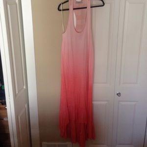 Pink ombre maxi dress