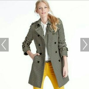 Ann Taylor Loft Striped Trench Coat