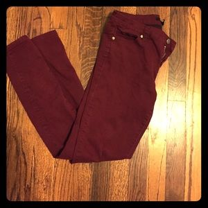 Forever 21 Pants - Forever21 Maroon Jeggings.
