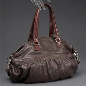 "Be and D ""GEORGIA"" Satchel handbag -Chocolate"