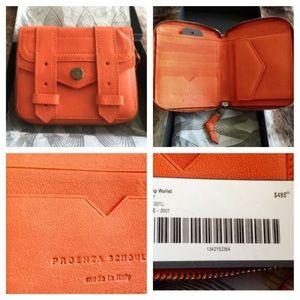Proenza Schouler Handbags - Proenza Schouler PS1 Leather Zip Wallet Orange NEW