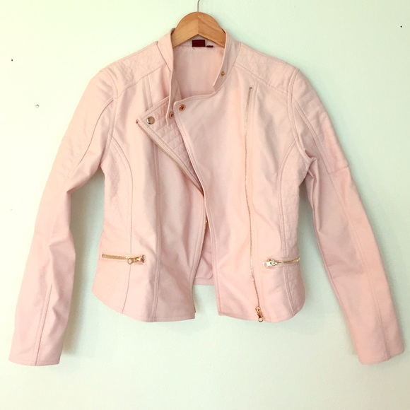 58% off Seventeen Outerwear - Light pink faux leather jacket from