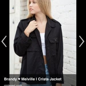 Brandy Melville Black Crista jacket