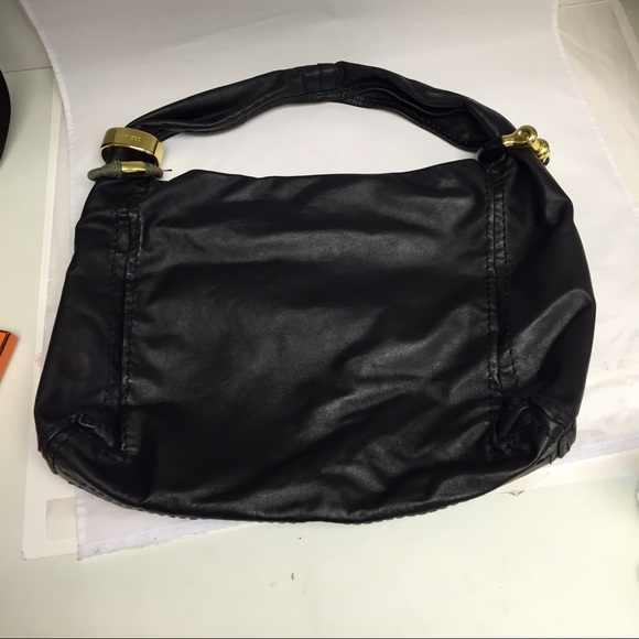 Jimmy Choo Saba Black Leather Medium Hobo Bag