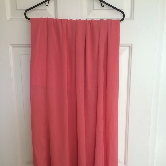 53 forever 21 dresses skirts coral chiffon maxi