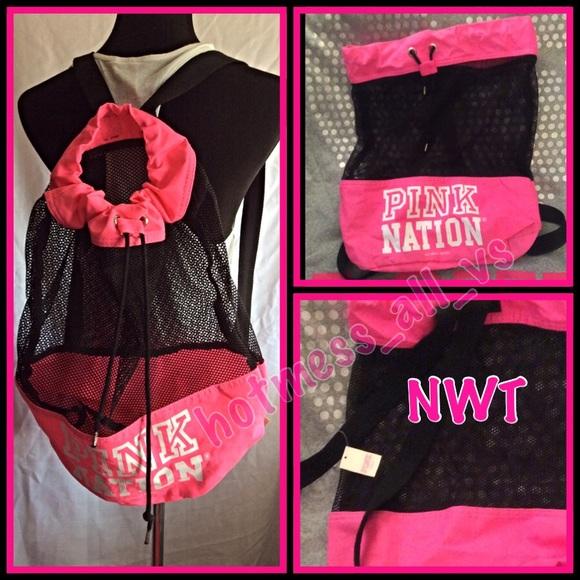 PINK Victoria's Secret - 🚫SOLD🚫VS PINK Pink Nation mesh backpack ...