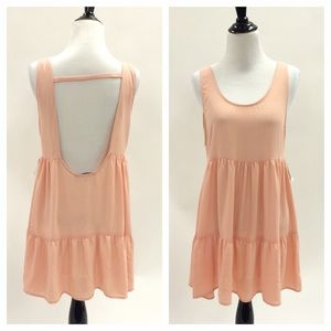 Foreign Exchange Dresses & Skirts - Peach Blush Open Back Dress