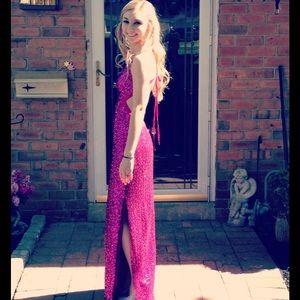 Barbie Pink Sequinned Prom Dress