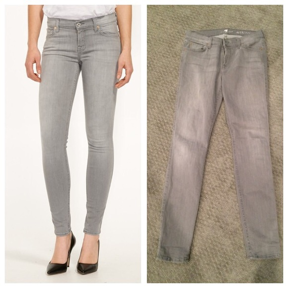 7 for all Mankind Denim - 7 For All Mankind skinny in spring grey