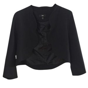 Mossimo black blazer with scalloped detailing