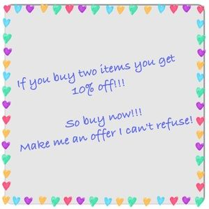 Buy two items get 10%off!