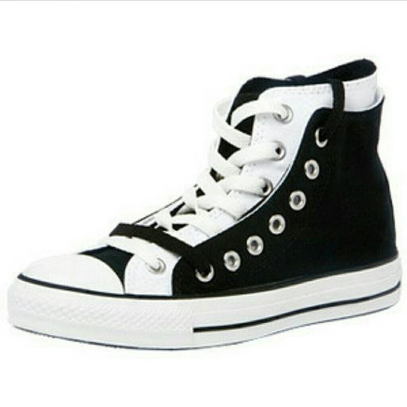 3e7e260c0d55 Converse Shoes - Double layered high top converse