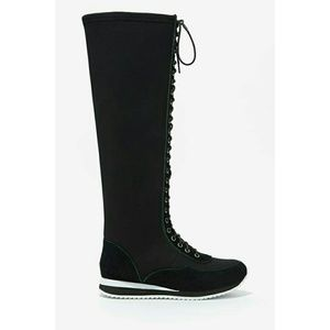 Jeffrey Campbell Shoes - Melanie Knee High Sneaker - Neoprene