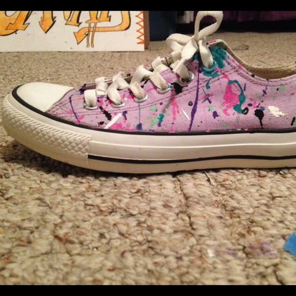 ab16d9e40d97 Converse Shoes - Hand painted Converse like-new shoes! Too COOL!