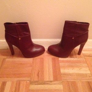 Tory Burch Zipper Heel Boots, Size 8, 100% Leather