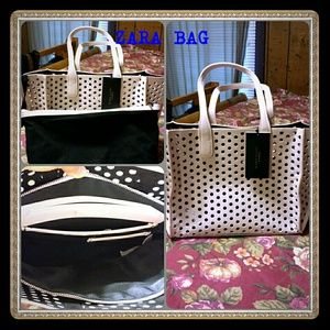 Zarah bag cream color new with tag.