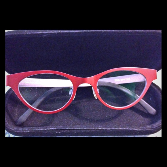 3ed2359276 SEE red round cat eye frames, lightweight aluminum