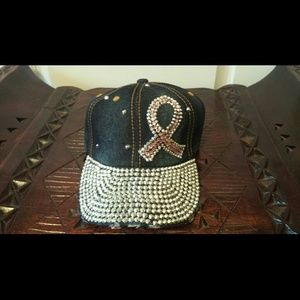 Accessories - Cancer Awareness Bling Cap