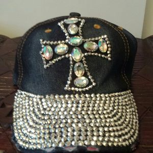 Accessories - Bling Cross Cap