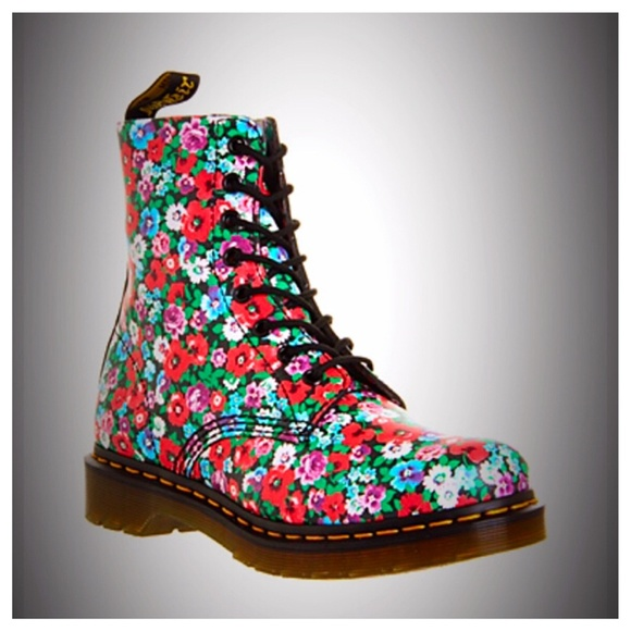 91% off Dr. Martens Shoes - Dr. Martens Pascal Floral Boots from ...