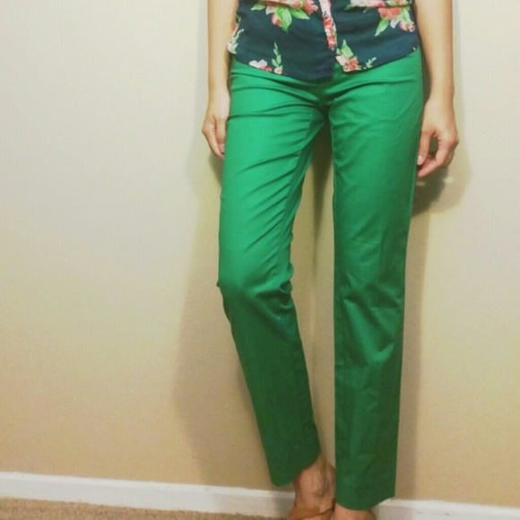 GAP - GAP Green Slim Cropped Pants from Ciara's closet on Poshmark