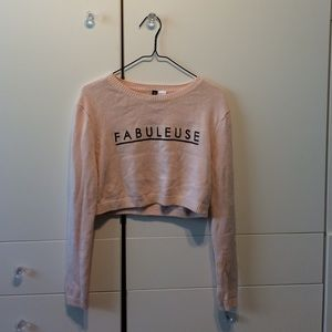 """Fabuleus"" crop sweater"