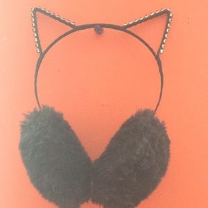 Leather Cap With Cat Ears