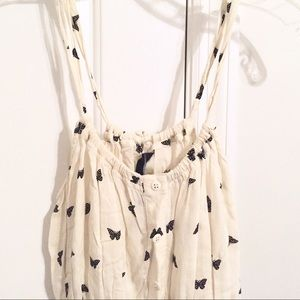 O'Neill Tops - Ivory butterfly print tank