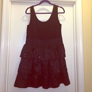 Black Sequined Party Dress