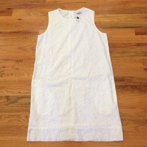 Gap White Cotton NWT floral eyelet dress - S