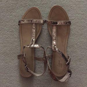 Zara Glitter Platform Sandals 42
