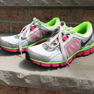 lime green and pink nikes