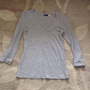 UO BDG Grey 3/4 V-Neck
