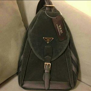 Topshop - PRADA MONOGRAM BACKPACK PURSE from !michelle\u0026#39;s closet on ...
