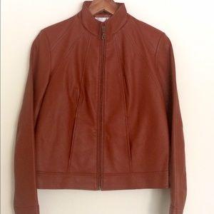 NWT Spiegel 100% Brown Leather Jacket, size 4