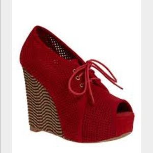 Jeffrey Campbell red wedge