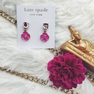 ✨Host Pick✨ Kate Spade Flower Drop Earrings Pink