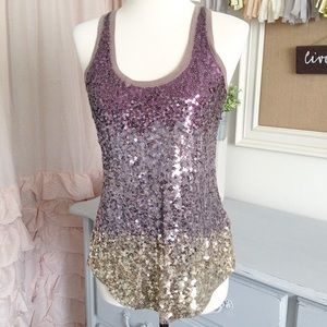 Express Multi-Sequin Club Top