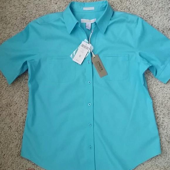 chicos no iron shirt short sleeve poshmark