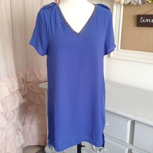 NWT! Cobalt Blue Tunic Shift Dress