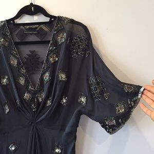 All Saints Tops - All Saints Sheer Sequined Tunic