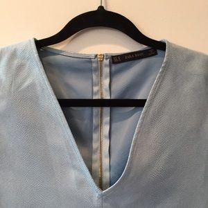 Zara Tops - Leather-like Paneled Top from Zara