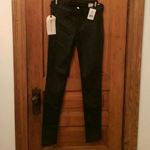 BNWT Rag & Bone Coated Black Leggings Jeans!