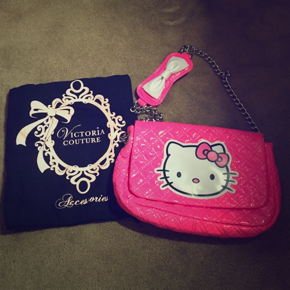 06454e3a8f Victoria Couture Hello Kitty Bag in neon pink. M 55aac5d02b9956087900b433