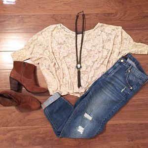 Brandy Melville Tops - Lace poncho top - Brandy Melville
