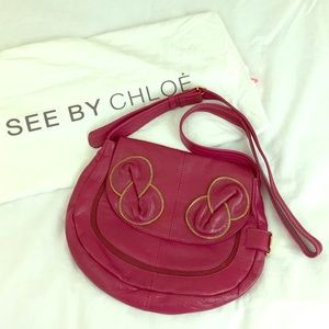 See by Chloe Leather & Suede Zip Bow Messenger Bag