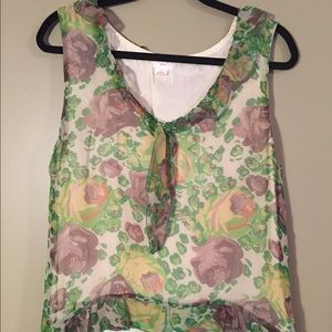 """Anthropologie """"Snak"""" Floral Top with Ruffles"""