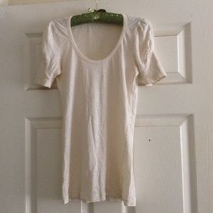 Beige top with sleeves 100% cotton